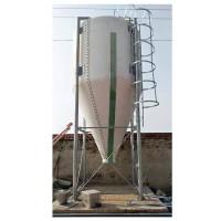 玻璃钢料塔畜牧养殖用储料罐猪舍全自动饲料输送系统配件料塔厂家